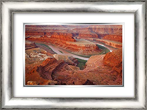 UT, Dead Horse Point SP Gooseneck Section 24x17 Silver Contemporary Wood Framed and Double Matted Art Print by Paulson, Don ()