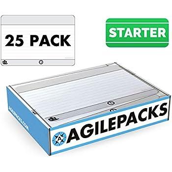 Dry-Erase Planning Card Magnets by AgilePacks for Agile Planning Boards, Scrum, Kanban, Meetings, Productivity | AgilePacks Starter Kit - 25 4x6 Magnetic ...