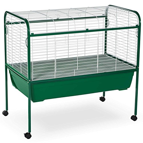 Prevue Pet Products Small Animal Cage with Stand 520 Green and White, 40-Inch by 23-1/2-Inch by 37-Inch by Prevue Hendryx