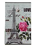 Wei Long Photo Album Hold 300 Pockets, 4''x 6'' Photos, (Eiffel Tower)