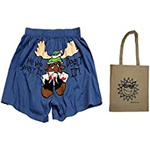 He Who Smelt It Dealt It Adult Comical Boxer Shorts and Tote - Multi-Pack