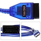vag com tool - Beluia VAG COM OBD2 Scanner ABS Car Diagnostic Tool, 409.1 USB KKL USB Cable Fit for VW Audi Skoda Seat