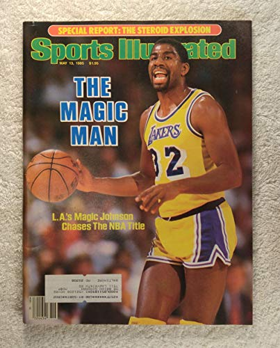 Magic Johnson - Los Angeles Lakers - The Magic Man - Sports Illustrated - May 13, 1985 - Steroids Article - SI