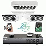 Amview 5MP (2592x1920p) 32 Channel 4K NVR Network PoE IP Security Camera System - HD 5MP 1920p 2.8~12mm Varifocal Zoom (14) Bullet and (6) Dome IP Camera