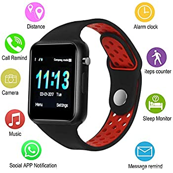 IOQSOF Smart Watches,IOQSOF Touchscreen Bluetooth Smart Watch with Camera,Android Smartwatch,Waterproof Smart Watches Compatible Samsung iOS iPhone X 8 7 6 ...