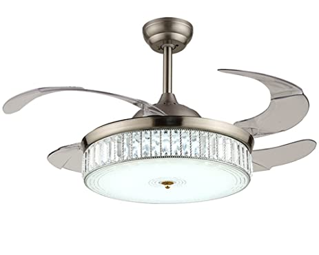 42 inch ceiling fan with remote crystal chandelier 7pm retractable ceiling fans 42 inch crystal invisible chandelier fan with remote control dimmable led light