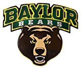 Gear New Baylor University Logo with Bear Head 3D Vintage Metal College Man Cave Art, Large, Green/Yellow