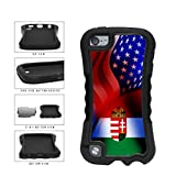 BleuReign(TM) Hungary and USA Mixed Flag 2-Piece Dual Layer Phone Case Back Cover Apple iPod Touch 5th Generation