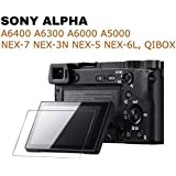 M.G.R.J® Tempered Glass Screen Protector for Sony DSLR Alpha Nex-7 NEX-6 NEX-5 A6400 A6300 A6000 A5000 Digital Camera