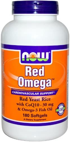 NOW Foods – Red Omega Red Yeast Rice With CoQ10 30 mg. – 180 Softgels
