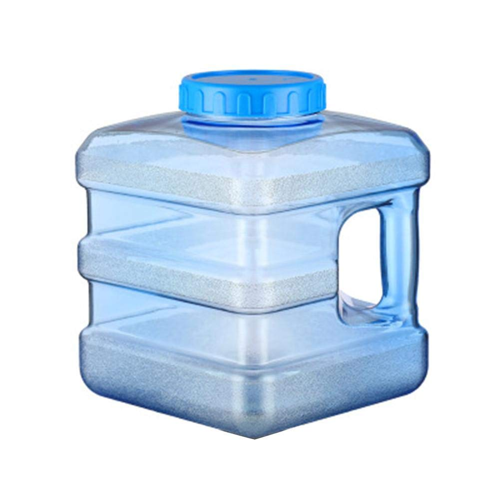 Water Container, BPA Free Portable Refrigerator Bottle, Reusable Plastic Water Bottle, Portable Thicken Container, Plastic Water Container with Cap for Car Self Driving