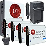 DOT-01 4X Brand Olympus Tough TG-5 Batteries and Charger for Olympus TG-5 Waterproof Camera and Olympus TG5 Battery and Charger Bundle for Olympus LI92B LI-92B