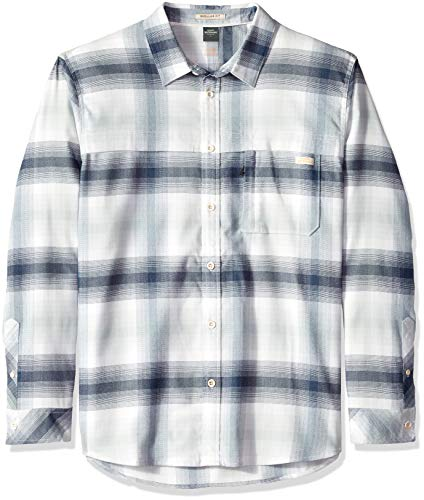 Quiksilver Men's Thermo Hyper Flannel Shirt, Snow White, L