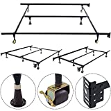 Apontus Metal Bed Frame Adjustable Queen Full Twin Size W/Center Support