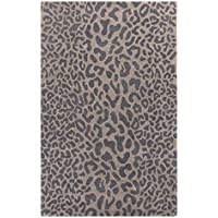 Surya Athena ATH-5114 Hand Tufted Wool Animal Print Runner, 3-Feet by 12-Feet