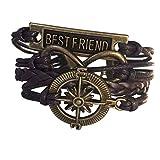 "Best Wild Wind Friends Leather Necklaces - Wild Wind (TM) Christmas Compass Rudder ""Best Friend"" Review"