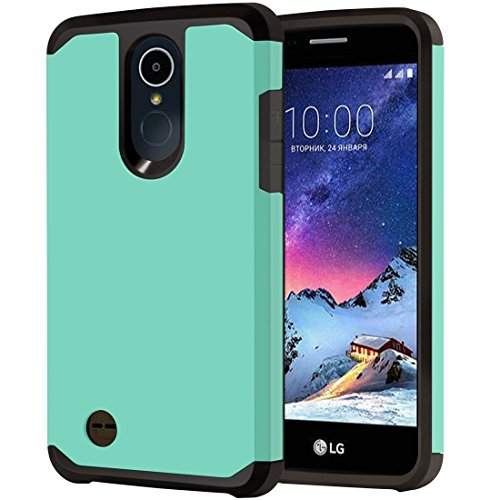 LG Tribute Dynasty Case, LG Aristo 2 Case, LG Rebel 3 LTE Case, LG K8 2018 Phone/Rebel 2/Phoenix 3/Fortune/Risio 2 Case, OEAGO Hybrid Shockproof Drop Protection Case Armor Cover (Mint)