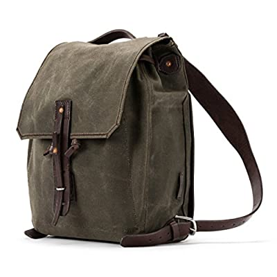 80388f918f 30%OFF Saddleback Leather Simple Canvas Backpack - Waxed Canvas and Leather  Backpack - 100