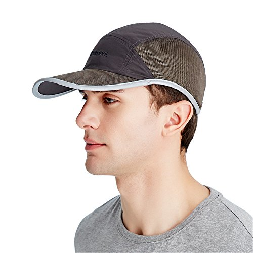 Kenmont Golf - Mesh Swoosh Flex Sandwich Cap Hat Baseball Caps with SUPPLEX Quick Drying fabric (Brown (Swoosh Flex Cap)