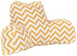 Majestic Home Goods Chevron Reading Pillow, Yellow