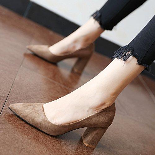 FLYRCX La primavera y el otoño simple moda personalidad damas zapatos de tacón alto zapatos B