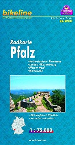 bikeline-radkarte-pfalz-kaiserslautern-pirmasens-landau-wissembourg-pflzer-wald-weinstrasse-rk-rpf07-1-75-000-wasserfest-reissfest-gps-tauglich-mit-utm-netz