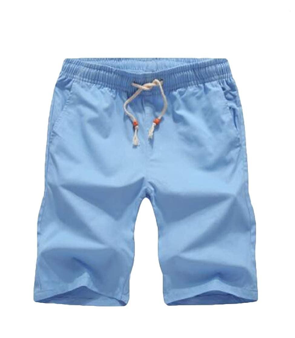 YYear Mens Summer Denim Casual Faded Ripped Holes Straight Leg Shorts
