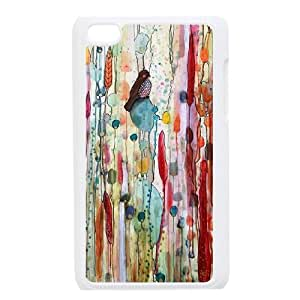Watercolor bird Customized Case for iPod Touch 4,diy Watercolor bird Phone Case