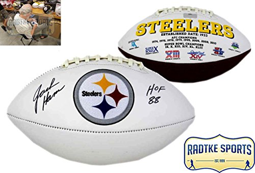 Jack Ham Autographed/Signed Pittsburgh Steelers Embroidered NFL Football With
