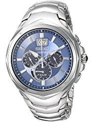 Seiko Mens COUTURA CHRONOGRAPH Quartz Stainless Steel Casual Watch, Color:Silver-Toned (Model: SSC641)