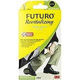 Futuro Dress Socks for Men, Moderate Compression, 15-20 mm/Hg, Large, Black