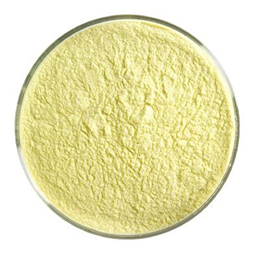 BU022098F-Frit Powder Sunflower Yellow Opal 1 Pound Jar 1 LB