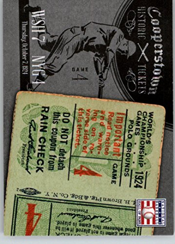 - 2013 Panini Cooperstown Historic Tickets #6 1924 World Series -
