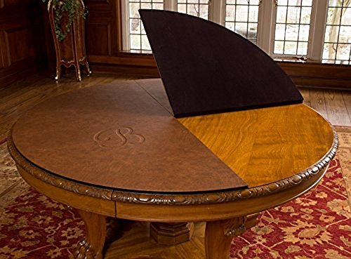 Custom Made Table Pads for ROUND DINING ROOM TABLE, Custom Made with BONUS TABLE RUNNER and LEAF EXTENSIONS Included, Premium Luxury, Table Top Protector (Maximum size: up to 80'' wide) by Luxury Custom Table Pads