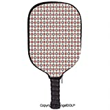 AngelDOU Retro Lightweight Neoprene Pickleball Paddle/Racket Cover Case Nostalgic Old Fashioned Polka Dots Inner Circles Colorful Geometrical Concept Artsy Durable and Portable.Multicolor
