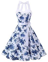 Dresstells reg; Halter 1950s Vintage Audrey Dress Polka Dots Retro Cocktail Dress