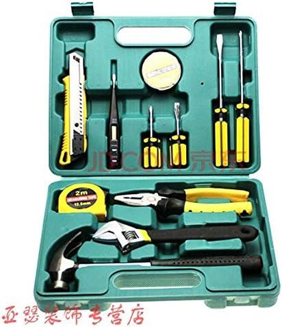 WZGGZ Hardware: Caja de Herramientas pequeña, Electricista, reparador, comúnmente Utilizado, Manual, casa, Verde Oscuro, Llave Inglesa, 8 Juegos: Amazon.es: Hogar