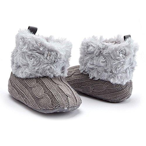 Lanchengjieneng Baby Schuhe Krabbelschuhe Grau