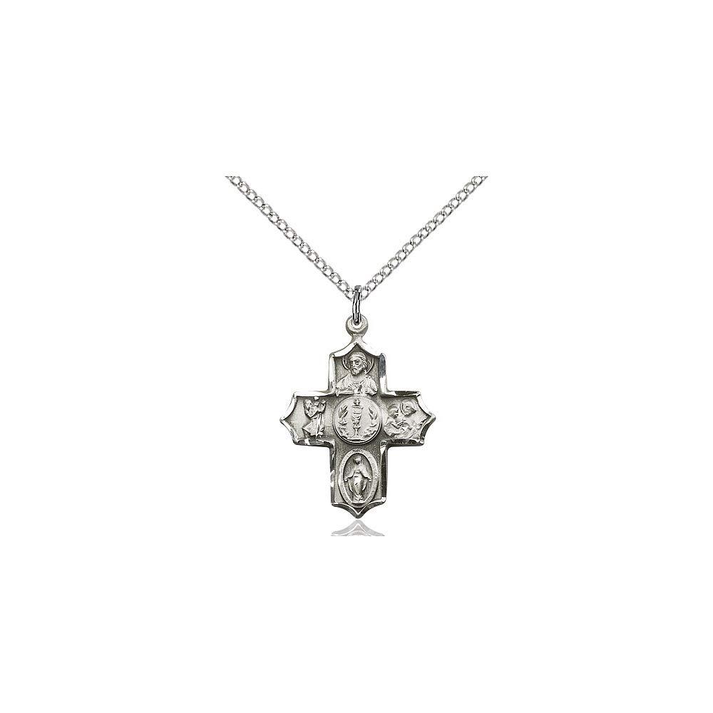 DiamondJewelryNY Sterling Silver 4-Way Pendant