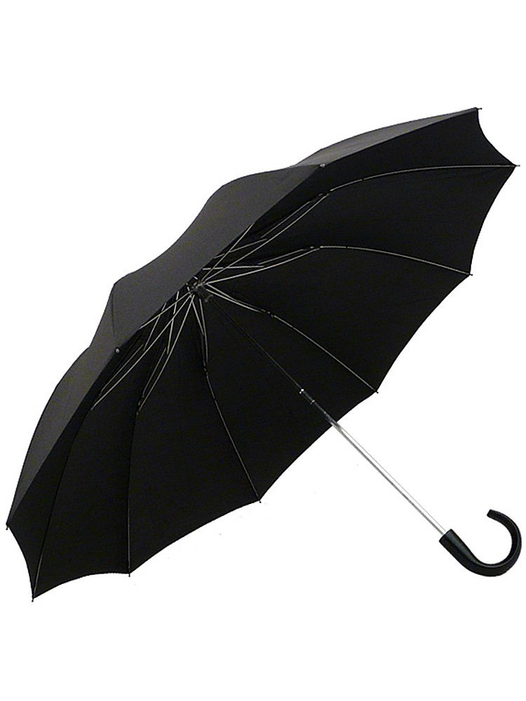 (フォックスアンブレラズ) FOX UMBRELLAS メンズ 折りたたみ傘 TEL1 MAPLE CROOK HANDLE [並行輸入品] B00XX089KW ブラック/ブラック ブラック/ブラック