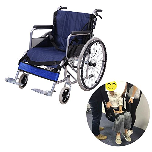 Wheelchair Transfer Belt Medical Lift Sling Patient Care Transport Safety Mobility Aids Equipment for Elderly Disabled (4 Handles - Blue) by NEPPT
