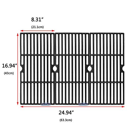 Uniflasy Cast Iron Grill Cooking Grid Grate Replacement Parts for Broil King 987844, 987847, Charbroil 463240904, 463250512, 463251505, 463251605, 463251713, 463622514, 463650413, G517-0014-W1