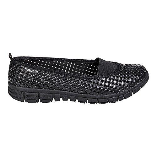 Holees Ballerine Sport Confortable - Chaussures Eté (Noir)
