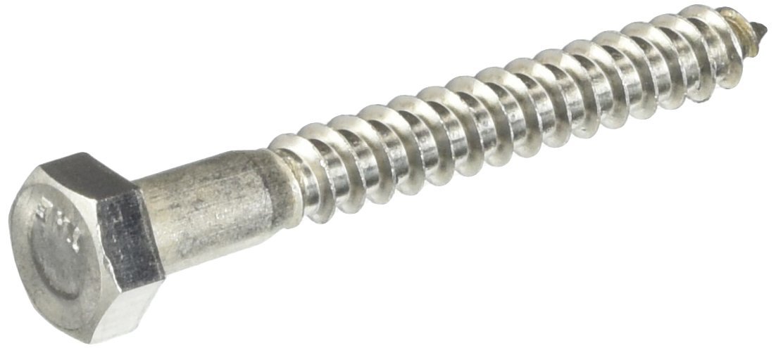 Hillman 832038 5/16 x 2-1/2-Inch Stainless Steel Hex Lag Screws, 25-Pack