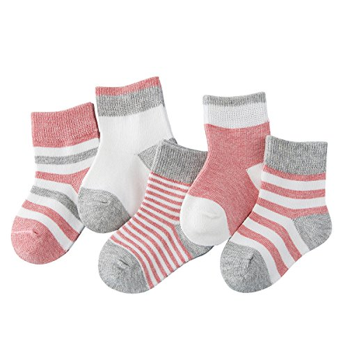 Toddler Baby Girls Kids Socks - Cotton Size 2-3 4 7-10 13-1 12 Children Ankle Socks For 3t-4t Including 5 Pairs from Enjoy Holiday