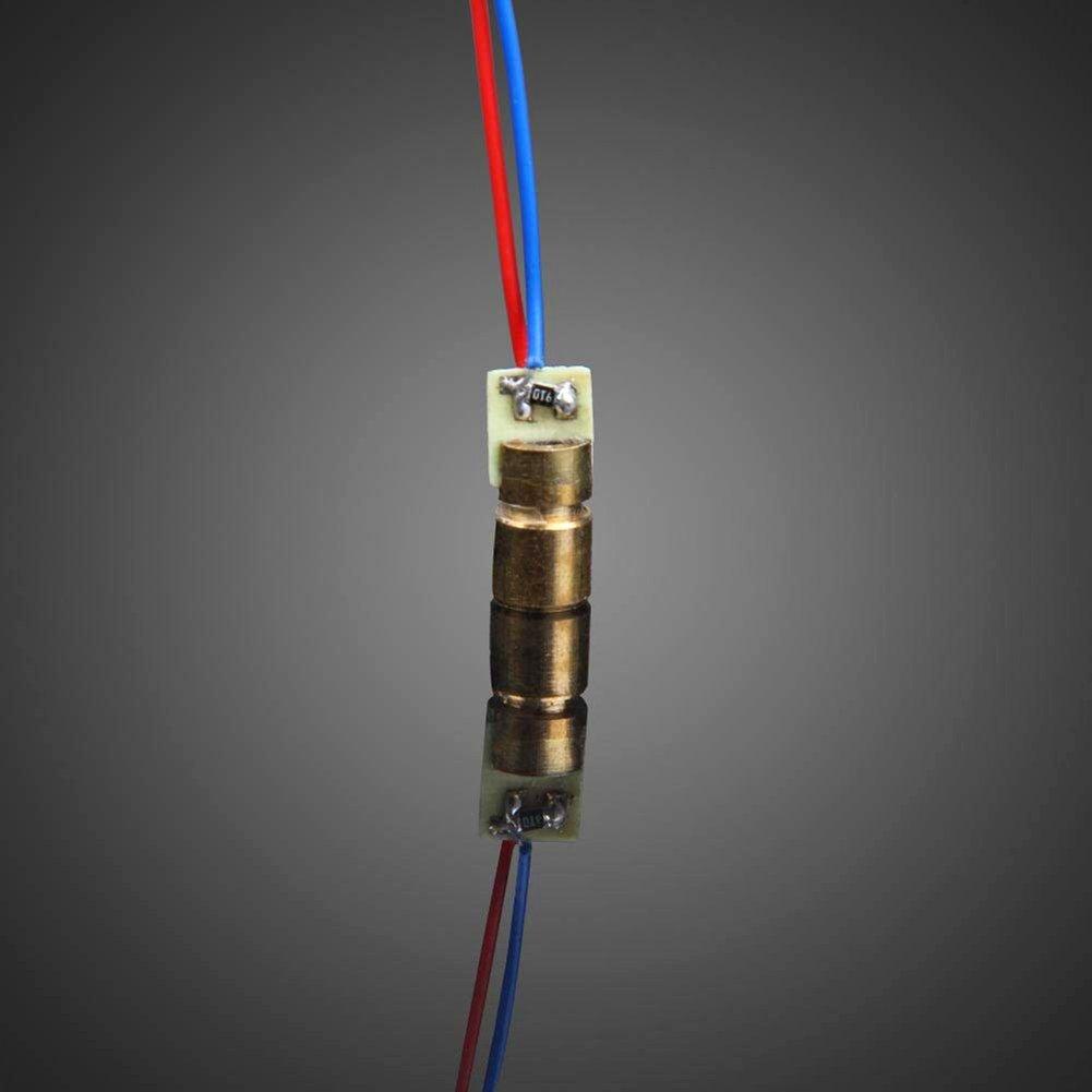 Naisicatar C/âbl/é Cobre L/áser Head Diodo L/áser Cobre filaire M/ódulo Tubo Cobre Rojo en Forma de Cabeza Dot 5/V 5/MW 650/NM 6/mm Diodo M/ódulo para Arduino Raspberry Pi prototipado X 10