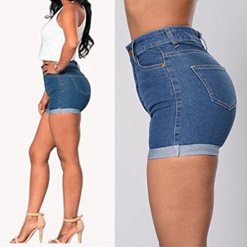 Jeans Women Casual Mini Azul Short Fashion Summer Denim Hibote Hot Ripped Jeans Pants qZzYzSt