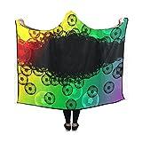 Jnseff Hooded Blanket Sport Games Recreation Leisure Ball Soccer Blanket 60x50 Inch Comfotable Hooded Throw Wrap