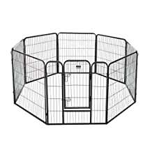 """Pet Trex 2340 32 Inch Black Playpen Heavy Duty Playpen for Indoor and Outdoor Use, 32"""", Black"""