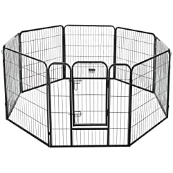 "Pet Trex 2340 32 Inch Black Playpen Heavy Duty Playpen for Indoor and Outdoor Use, 32"", Black"